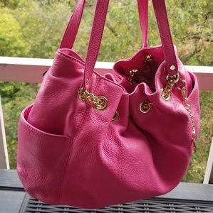 Michael Kors Zinnia Pink Leather Bag